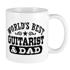 World's Best Guitarist And Dad Small Mug