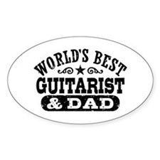 World's Best Guitarist And Dad Decal