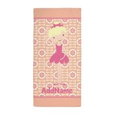 Pink Ballerina Personalized Beach Towel