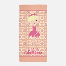 Pink Ballerina Personalized Beach Towel