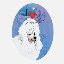 Poodle Ornament (Oval)