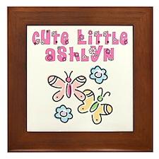 Cute Little Ashlyn Framed Tile