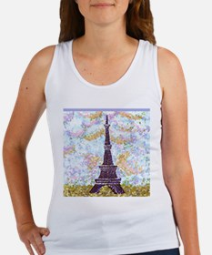 Eiffel Tower Pointillism by Kristie Tank Top