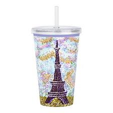 Eiffel Tower Pointillism by Kristie Acrylic Double
