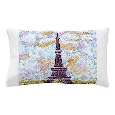 Eiffel Tower Pointillism by Kristie Pillow Case