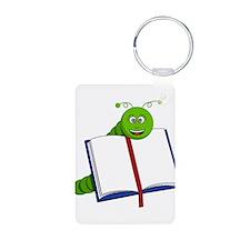 Cartoon Bookworm Keychains