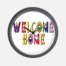 Welcome Home Bright Wall Clock