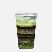 Vintage Sports Basebal Acrylic Double-wall Tumbler