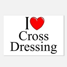 """I Love (Heart) Cross Dressing"" Postcards (Package"