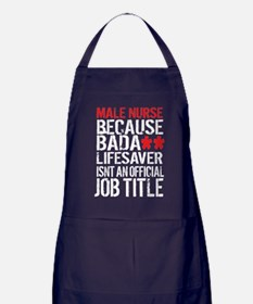 Male Nurse Badass Lifesaver Apron (dark)