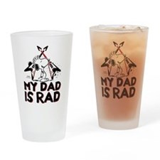 Snoopy: My Dad is Rad Drinking Glass
