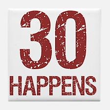30th Birthday Humor Tile Coaster