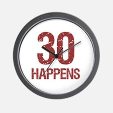 30th Birthday Humor Wall Clock