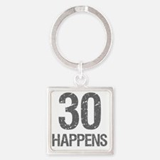 30th Birthday Humor Square Keychain