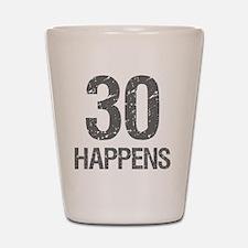 30th Birthday Humor Shot Glass