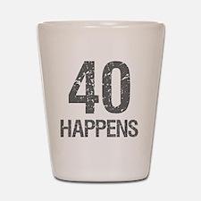 40th Birthday Humor Shot Glass