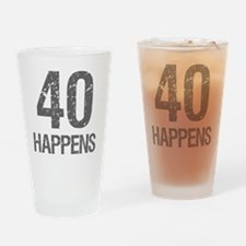40th Birthday Humor Drinking Glass