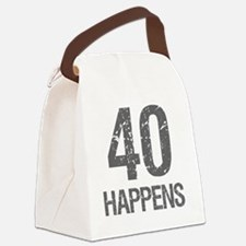 40th Birthday Humor Canvas Lunch Bag