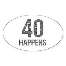 40th Birthday Humor Decal