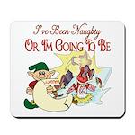 Naughty Elf & Santa Mousepad