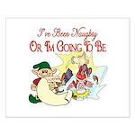 Naughty Elf & Santa Small Poster