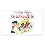 Naughty Elf & Santa Rectangle Sticker