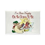Naughty Elf & Santa Rectangle Magnet (10 pack)