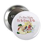 Naughty Elf & Santa Button