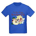 Naughty Elf & Santa Kids Dark T-Shirt