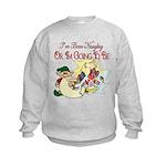 Naughty Elf & Santa Kids Sweatshirt