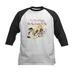 Naughty Elf & Santa Kids Baseball Jersey