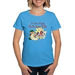 Naughty Elf & Santa Women's Dark T-Shirt