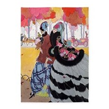 VOGUE - Women in Hoop Skirts at the 5'x7'Area Rug