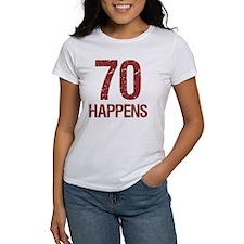 70th Birthday Humor Tee