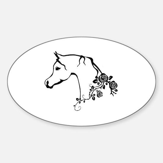 Arabian horse Sticker (Oval)