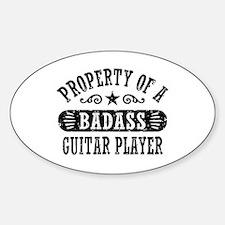 Property of a Badass Guitar Player Decal