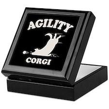 Agility Corgi Keepsake Box