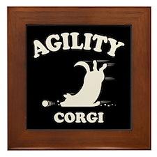 Agility Corgi Framed Tile