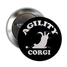 "Agility Corgi 2.25"" Button (10 pack)"