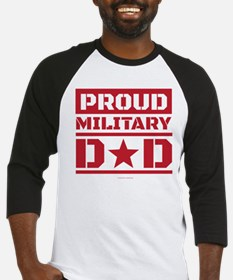 Proud Military Dad Baseball Jersey