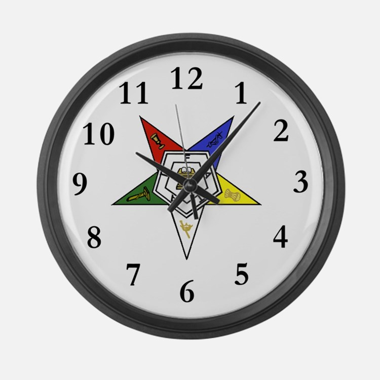 Eastern Star Large Wall Clock