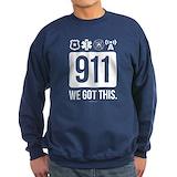 911 dispatcher Sweatshirt (dark)