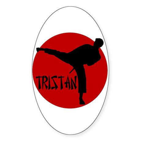 Tristan Martial Arts Oval Sticker
