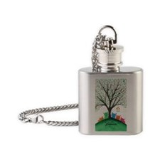 Birdhouse Stray Cats Flask Necklace