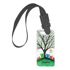 Birdhouse Stray Cats Luggage Tag