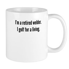 Retired Welder Golfer Mugs