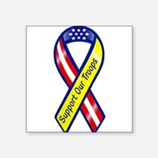 "Cute Support the troops Square Sticker 3"" x 3"""