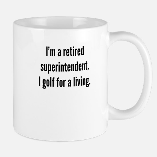 Retired Superintendent Golfer Mugs