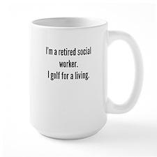 Retired Social Worker Golfer Mugs