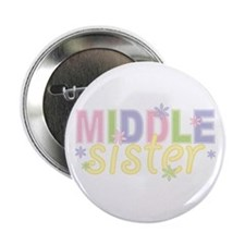 Middle Sister Flowers Button